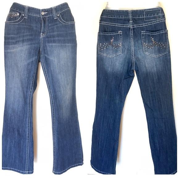 dccab88db51d2 Inc Denim Womens Regular Fit Bootleg Jeans 10